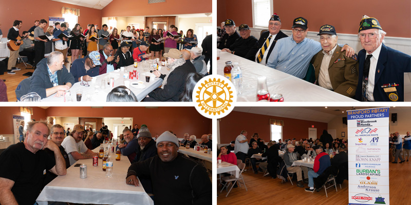 Veterans at luncheon